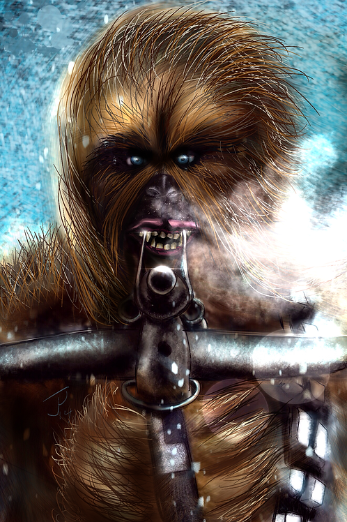 """""""Storm Wookie"""" Art Print"""