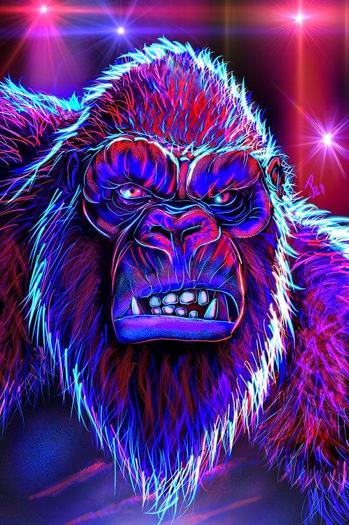 """Kong Bows To No One"" Art Print"