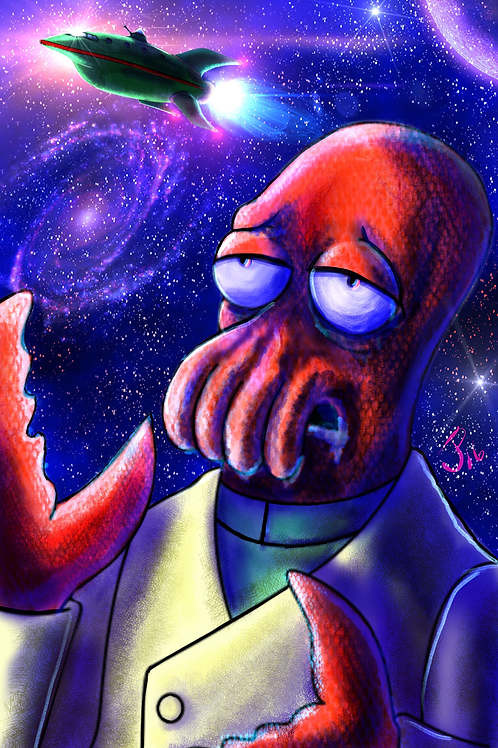 """Now Zoidberg is the..."" Art Print"