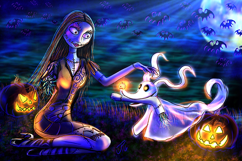 """Fetch By Moonlight"" Art Print"