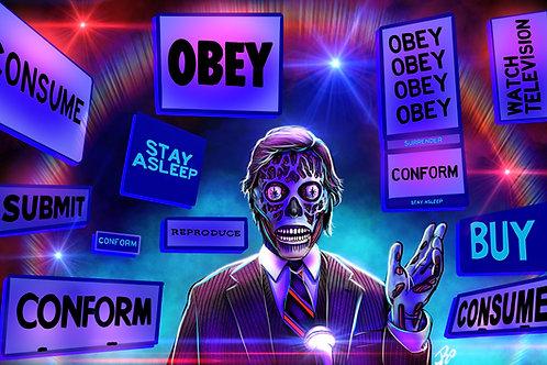 """""""OBEY"""" Art Print"""
