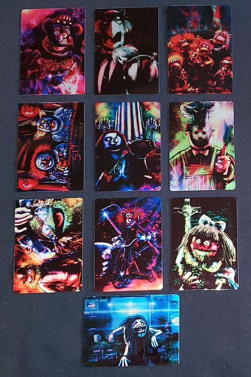 """Puppets Unglued!!! The Evil Continues"" METAL Card Set"