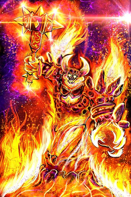 """By Fire Be Purged"" Art Print"