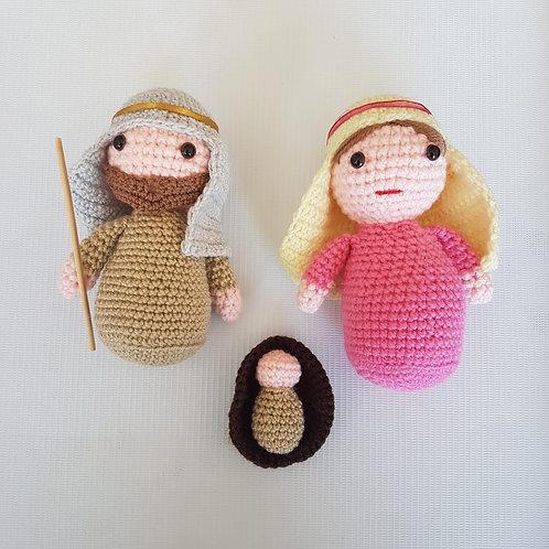Jesús María y José Amigurumi