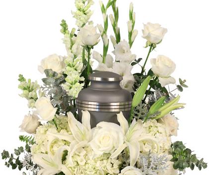 Urn Arrangement White