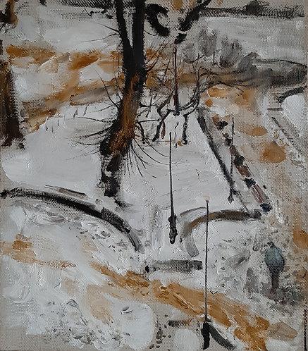 Petrov's Garden. Sand in The Snow by YURIY USHAKOV