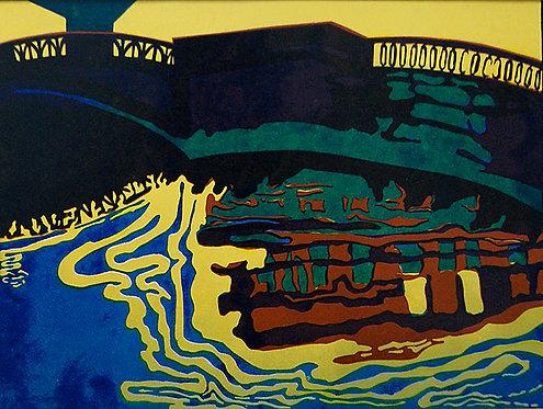 My City (2/3 of triptych) by VARVARA DROBINA