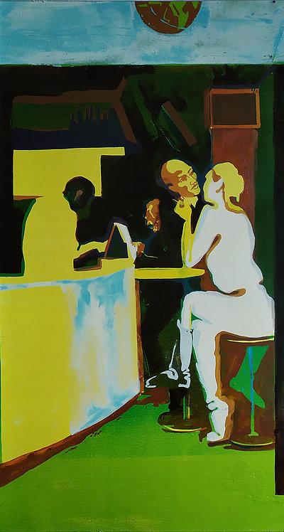 Evening in Paris (1/3 of triptych) by VARVARA DROBINA