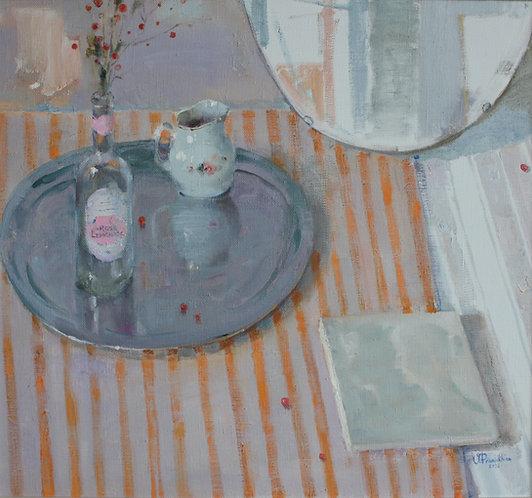 Still Life With a Silver Platter by VALERIA PRIVALIKHINA