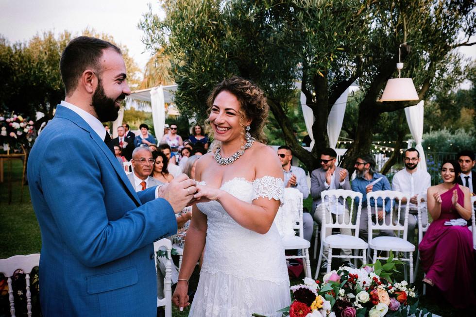 Cerimonia all'aperto a Casino Lenza: il matrimonio di Lia e Nicola.