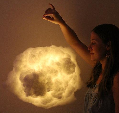 "Medium White Cloud Light (14"")"