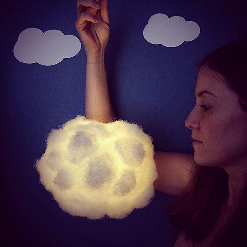 "Small White Cloud Light (8"")"