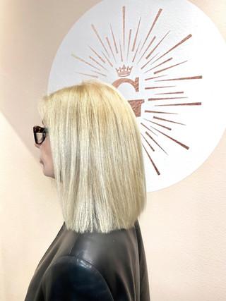 Blunt Blonde Bob Haircut