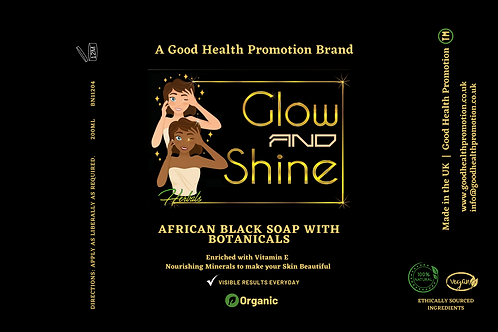 African Black Soap with Botanical