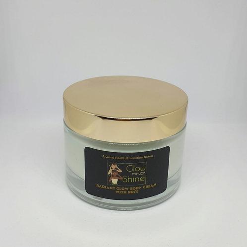 Organic - Radiant Glow Body Cream with Rose 100ml