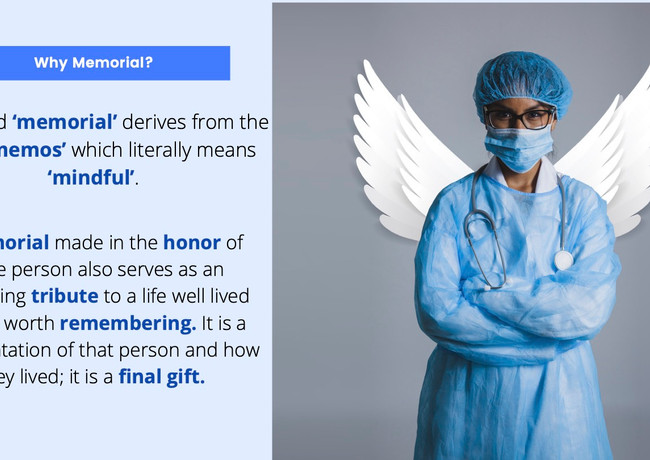 Memorialization of NY Healthcare workers.