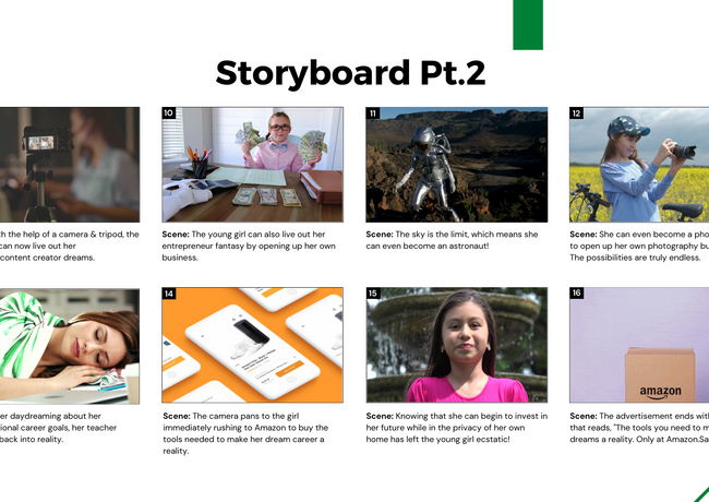 Pt. 2 of our prototype storyboard for the Re- Gen Z marketing campaign.