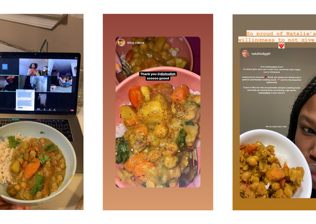 Iterative Prototype 1: For Black Girls Who Can't Cook, results/ testimonials.