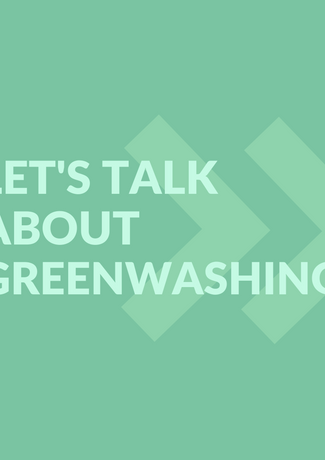 Example carousel post primary image; swipe through to see the dangers & different forms of greenwashing