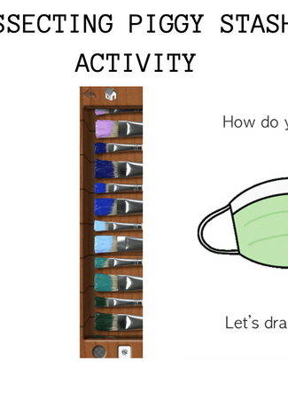 An example of an activity in the art kit.