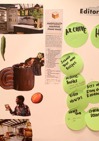 Moodboarding and Ideating for final prototype Dish.