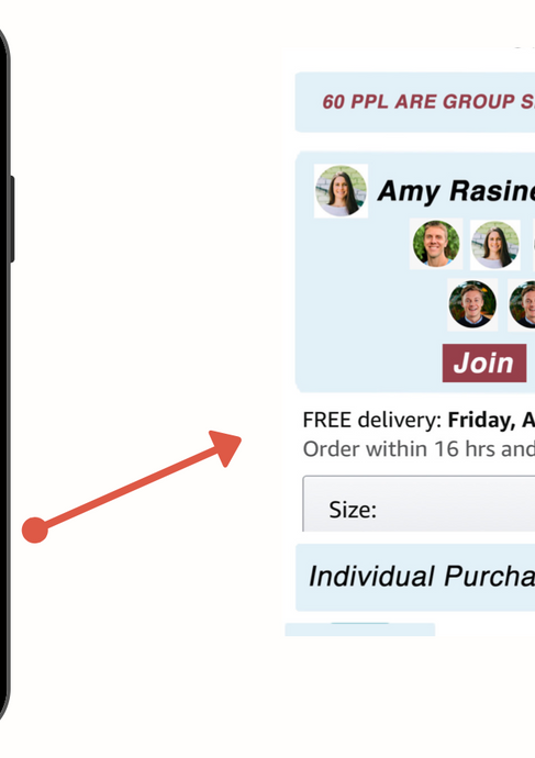 Our user picks a group and is the last person. They can now place their order and get the best deal.