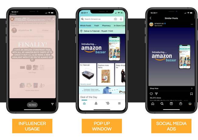 Amazon Bazaar advertising ideas.