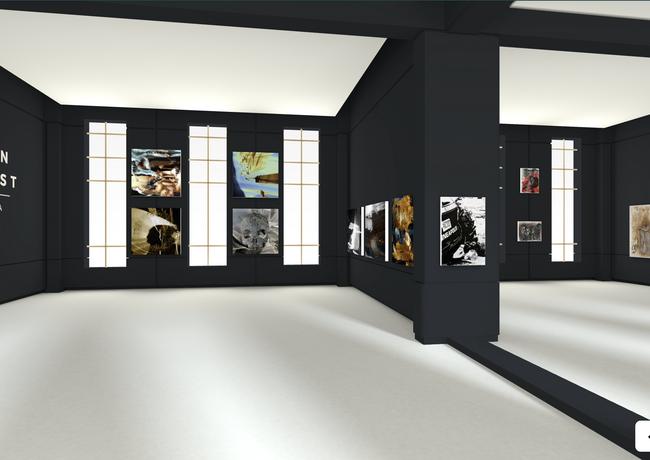HRF's new Mendoza Gallery, designed using Kunstmatrix