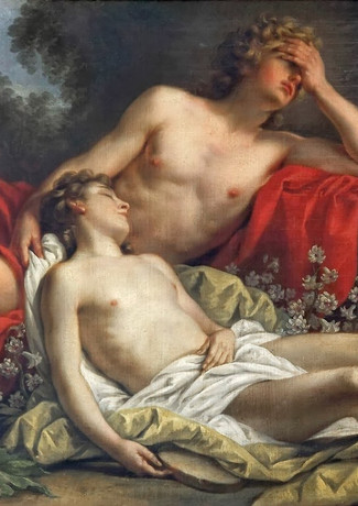 Nicolas-René Jollain, Hyacinthe Changé en Fleur, 1769, Oil on canvas, 95 × 130 cm.