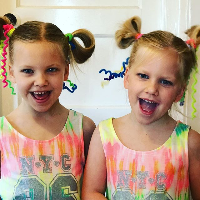 Girls are ready for #crazyhairday what are you doing for yours