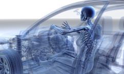 Röntgen Auto mit Frau