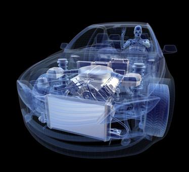 Skelett im Auto