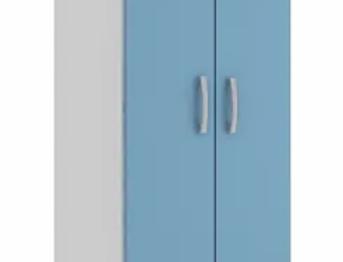 Mueble Armario Multiuso Blanco/Azul
