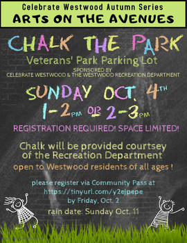 Chalk the Park, 2020, Arts on the Avenues