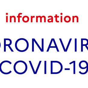 Conséquences du Coronavirus sur la vie du club.