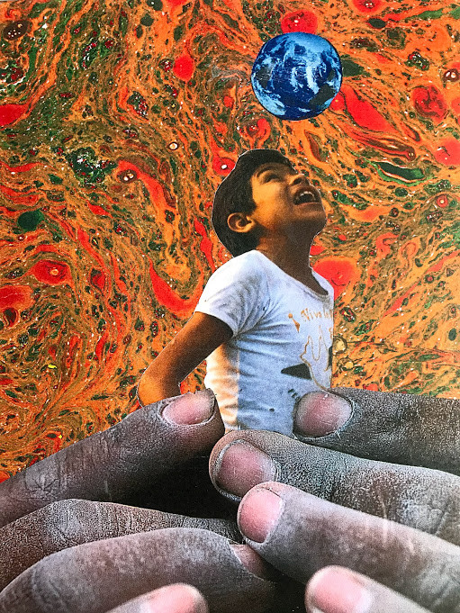 'Whole World in his Hands' (Collage)