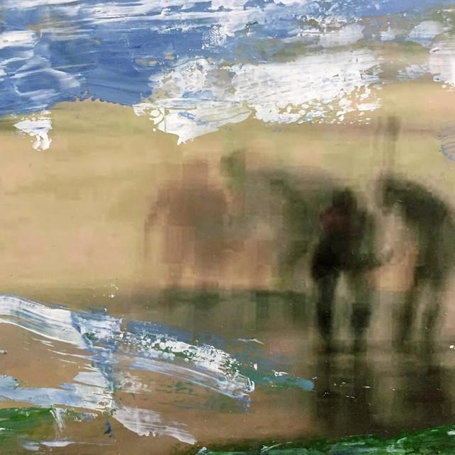 'Goan Fisherman' (Acrylic on original photo - reshot)