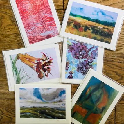 C PAINTER'S CHOICE: This includes two landscapes in oils, a pastel nude, a linocutand two floral watercolours. £12 a pack including second class postage.