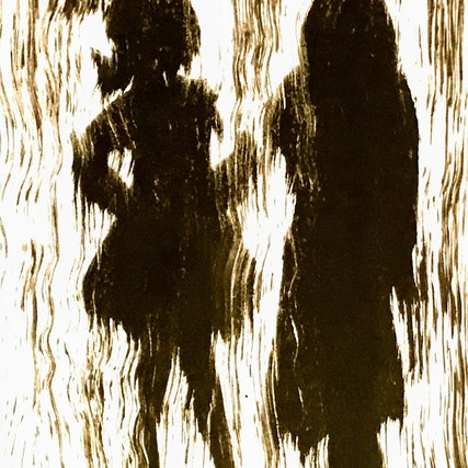 'Mother and Daughter' Monoprint