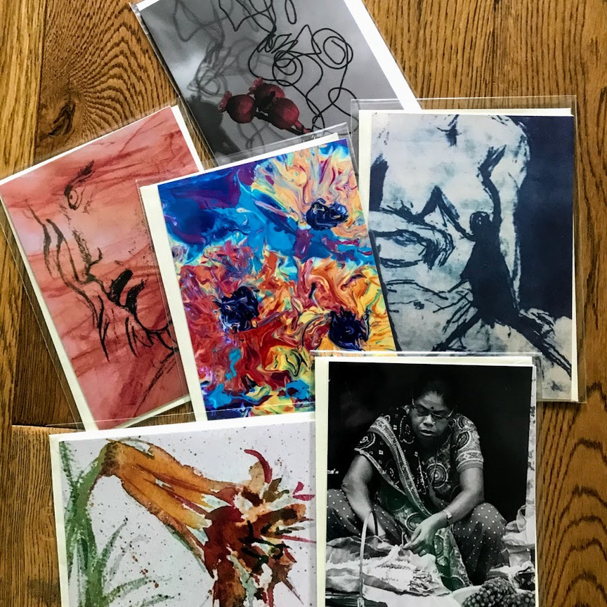 D ARTIST'S CHOICE: A selection of images from a variety of media, such as shown in the sample photo. (Note your cards may not be these exact images.) £10 per pack including second class postage.