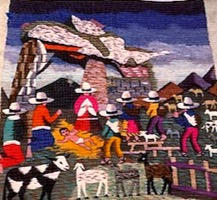 "Andean Nativity Tapestry (""Niño Dios"")"