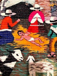 Andean Nativity Tapestry (detail)