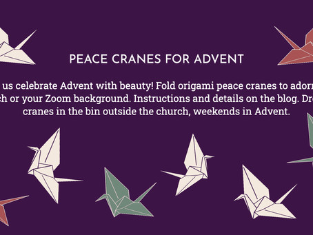 Peace cranes for Advent
