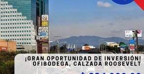 En Venta! Ofibodega de 1700m2 sobre Calzada Roosevelt, Guatemala. $.894,000        ID: IO181009