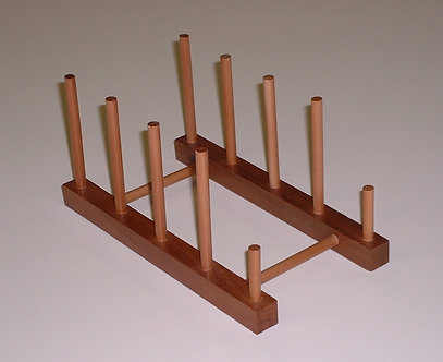 Wood Plate Display Rack