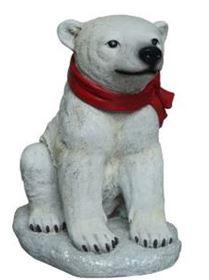 Polar Bear - Baby Sitting 16.5 in..JPG