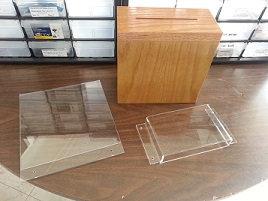 Wooden Locking Suggestion Box Set