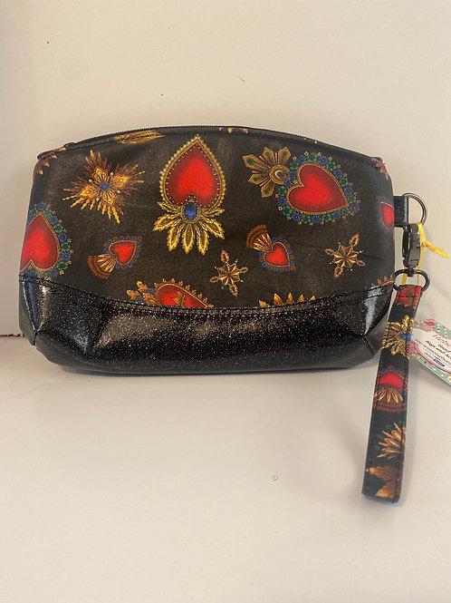 Hebes garden hearts wristlet bag