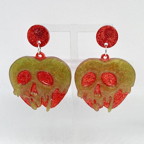 Toxic apple earrings