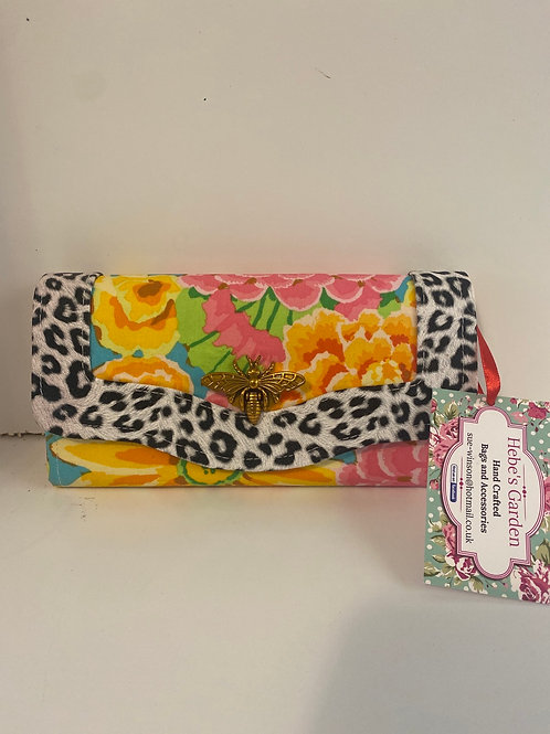 Hebes  garden bright floral purse